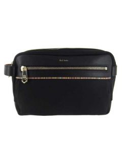 This is the Paul Smith Signature Stripe Black Men's Wash Bag with Zip.