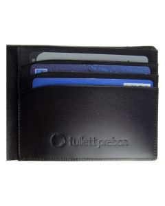 Montblanc wallet has been embossed with company logo.