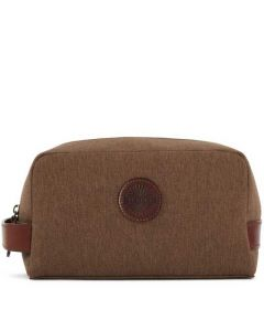This is the Purdey Canvas Walnut Wash Bag.