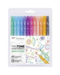 These are the Tombow 12 Dual Tip Twin-Tone Pastel Markers.