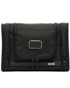 This is the TUMI Alpha 3 Black Hanging Wash Bag.