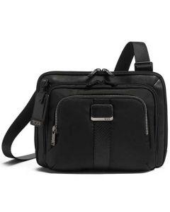 The TUMI Alpha Bravo Jackson Black Cross-Body Bag