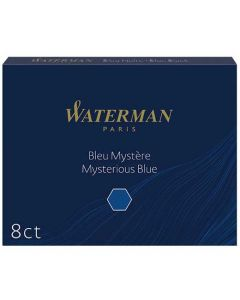 Waterman Large Standard Cartridges are available in Mysterious Blue.