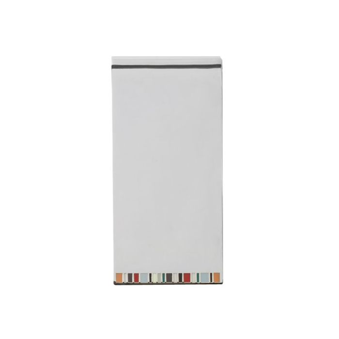 The back of the Silver Signature Stripe Money Clip features the iconic Paul Smith stripes in enamel