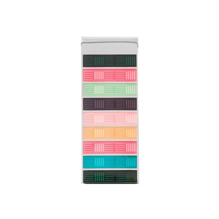 The Paul Smith, Artist Weave Enamel Money Clip is crafted from zinc-plated copper and features a basket weave design in the Paul Smith colours
