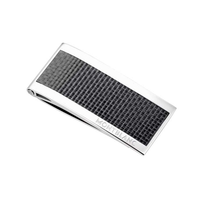 This is the Montblanc Carbon Inlay Meisterstück Money Clip.