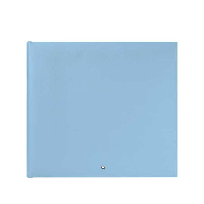 This is the Montblanc Fine Stationery Light Blue Photo Album #144.